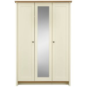 View Manor Vanilla Oak Effect 3 Door Wardrobe details