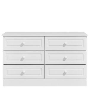 Image of Greenwich White Matt 6 Drawer Chest (H)750mm (W)1230mm (D)450mm