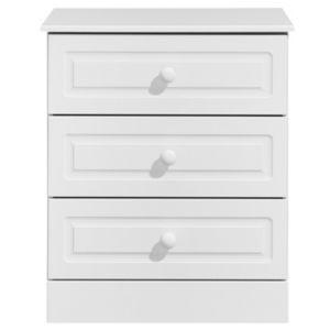 Image of Greenwich White Matt 3 Drawer Chest (H)750mm (W)630mm (D)450mm