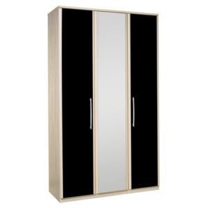 View Kingstown Tamzin Elm & Black 3 Door Mirror Wardrobe details