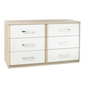 View Tamzin Elm & White 6 Drawer Chest details