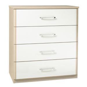 View Tamzin Elm & White 4 Drawer Chest details