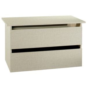 View Tamzin Elm & White 2 Drawer Internal Wardrobe Chest (H) 52 cm (W) 77 cm details
