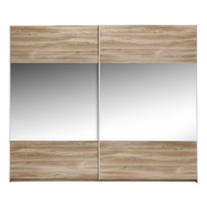 View Sophia Oak Effect Sliding Door Wardrobe (H) 210 cm (W) 250 cm details