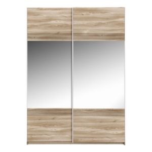 View Sophia Oak Effect Sliding Door Wardrobe (H) 210 cm (W) 150 cm details