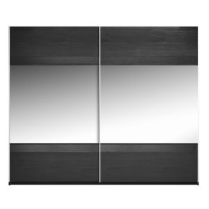 View Sophia Black Sliding Mirror Door Wardrobe (H) 210 cm (W) 250 cm details