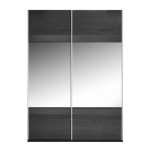 View Sophia Black Sliding Mirror Door Wardrobe (H) 210 cm (W) 150 cm details