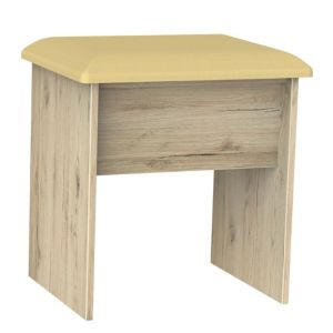 Como Oak Effect Dressing Table Stool (H)510mm (W)480mm