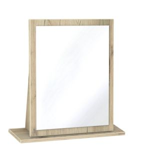 Image of Como Grey & Oak Effect Mirror (H)510mm (W)480mm (D)140mm