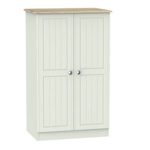 Image of Como Grey Oak effect 2 door Midi wardrobe (H)1270mm (W)770mm