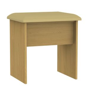 Montana Natural & Oak Effect Dressing Table Stool (H)510mm (W)480mm (D)380mm