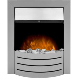 Image of Adam Comet Brushed steel LED Manual control Electric fire
