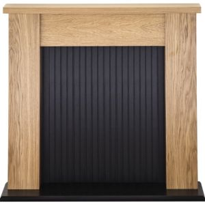 Image of Airdrie Black & Oak effect MDF Surround (H)1122mm (W)1215mm