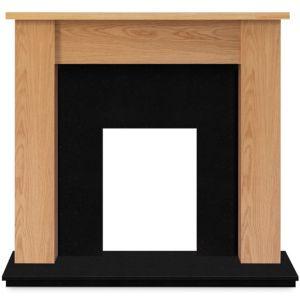 Image of Adam Buxton Oak veneer Solid marble & wood Surround set