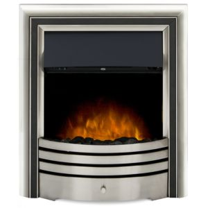 Image of Adam Astralis Black & Brushed steel LED Remote control Electric Fire