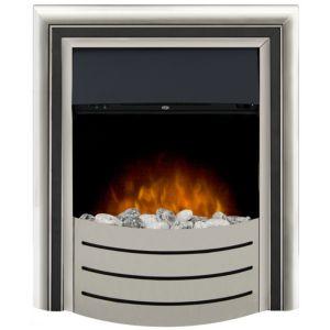 Image of Adam Lynx Black & Chrome effect LED Manual control Electric fire