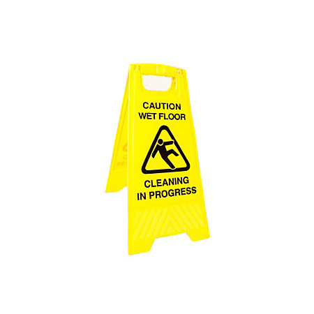 Plastic Warning Logo Floor Sign H630mm W305mm