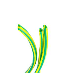 Image of CORElectric Green & yellow 3mm Cable sleeving 5m