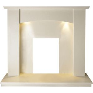 View Faro Roman Stone Marble Fire Surround Set details