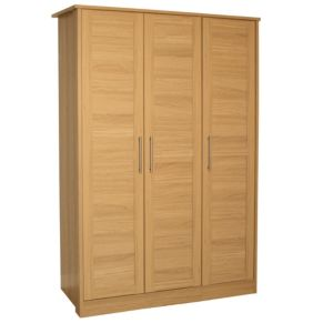 View B&Q Amber Oak Effect 3 Door Wardrobe details