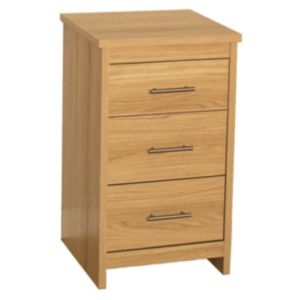View B&Q Oak Effect 3 Drawer Chest (W)434mm details