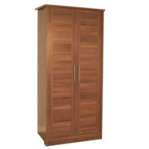View B&Q Amber Walnut Effect 2 Door Wardrobe details