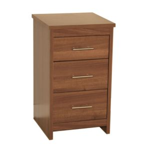 View B&Q Walnut Effect 3 Drawer Chest (W)434mm details