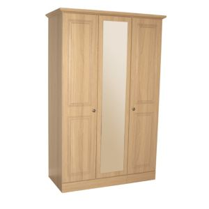 View B&Q Romany Oak Effect 2 Door Wardrobe (H) 1.952 M (W) 1.27 M details