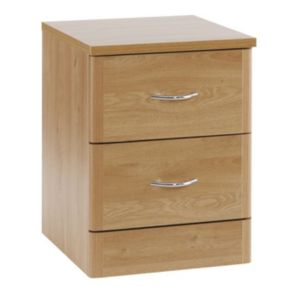 View B&Q Oak Effect 2 Drawer Chest (W)404mm details