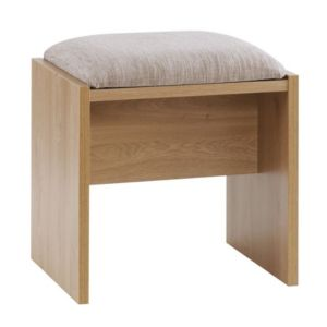 View B&Q Modern Oak Effect Stool details