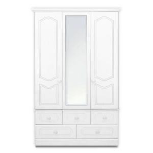 View B&Q Laurel Mirrored 3 Door 5 Drawer Wardrobe details