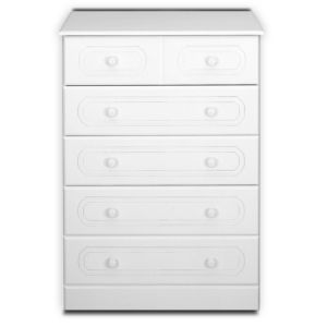 View B&Q White 5 Drawer Chest (W)830mm details