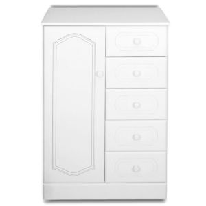 View B&Q White 5 Drawer & 1 Door Chest (W)830mm details