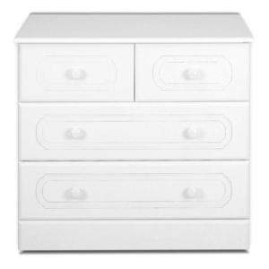 View B&Q White 2 over 2 Drawer Chest (W)830mm details