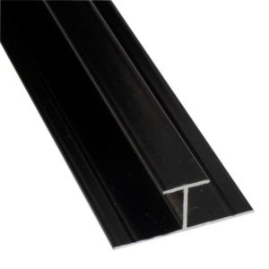 View Splashwall Black H Joint (L)2.42m details