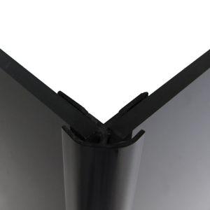 Image of Splashwall Black Shower Panelling External Corner (L)2440mm (T)4mm