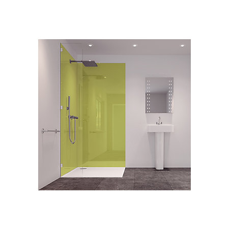 splashwall lime 2 sided shower panelling kit l 2420mm w 1200mm t 11mm departments diy at b q