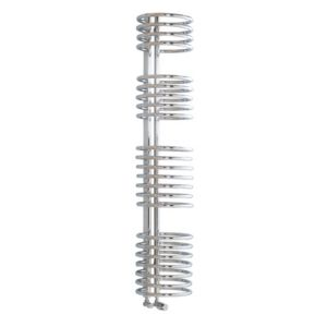 View Kudox Loop Contemporary Towel Warmer Chrome (H)1635 (W)320 mm details