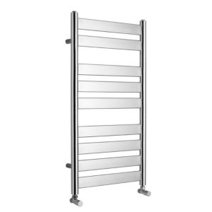 View Kudox Linear Flat Ladder Towel Warmer Chrome (H)950 (W)500mm details