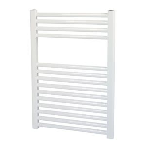 View Kudox Contemporary Mains Flat Towel Radiator White (H)700 (W)500mm details