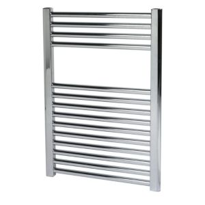 View Kudox Contemporary Mains Flat Towel Radiator Chrome Effect (H)700 (W)500mm details