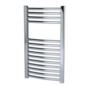 View Kudox Curved Mains Towel Warmer Chrome (H)700 (W)400mm details