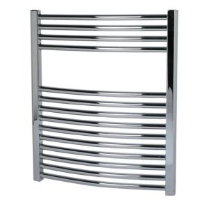View Kudox Curved Mains Towel Warmer Chrome (H)700 (W)600mm details