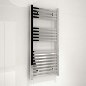 View Kudox Sevilla Straight Contemporary Towel Warmer Bright Chrome (H)974 (W)450mm details