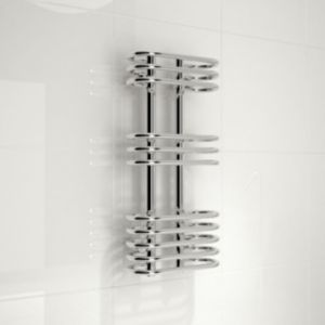 Kudox Cordoba Silver Towel Warmer (H)650mm (W)300mm