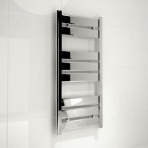 View Kudox Almeria Straight Contemporary Towel Warmer Bright Chrome (H)974 (W)450mm details
