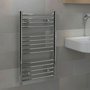 View Kudox Flat Ladder Contemporary Towel Warmer Chrome (H)700 (W)400mm details