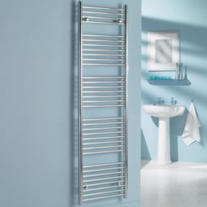 View Kudox Flat Ladder Towel Warmer Chrome (H)1674 (W)450 mm details