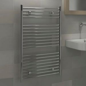 View Kudox Flat Ladder Towel Warmer Chrome (H)974 (W)600mm details