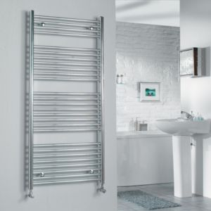 View Kudox Flat Ladder Towel Warmer Chrome (H)1324 (W)600mm details